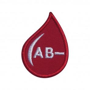 Parche Bordado Grupo Sanguineo AB- (AB negativo) en forma de gotas