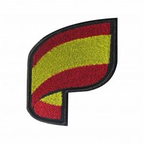 Parche Bordado bandera Española curva