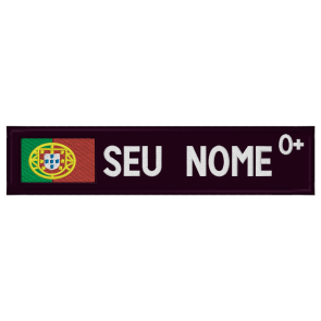 Parche con la bandera de Portugal, Nombre y grupo de Sangre personalizado