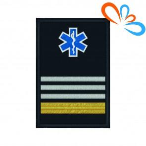 Divisa com Estrela da Vida de Oficial Principal com Velcro – Bombeiros