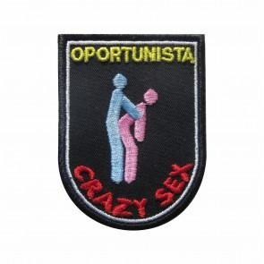 Parche Bordado Crazy Sex - Oportunista